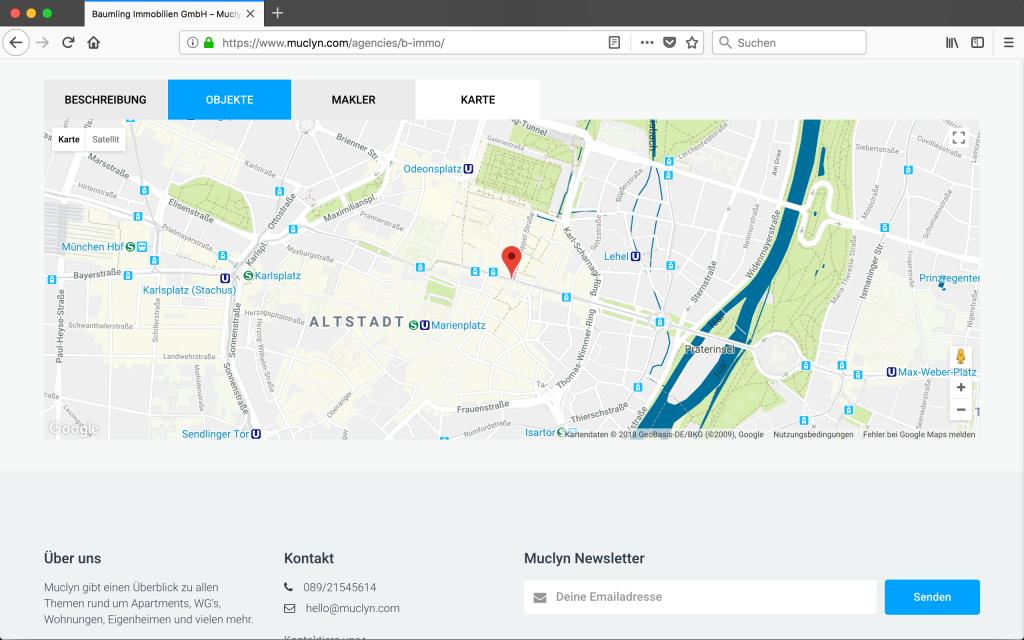 Immobilienmakler Karte München
